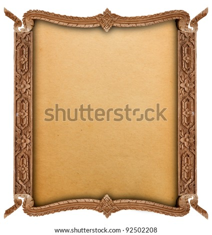 Wood frame - stock photo