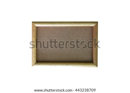 Wood frame border for fill picture on the wall isolated on white background