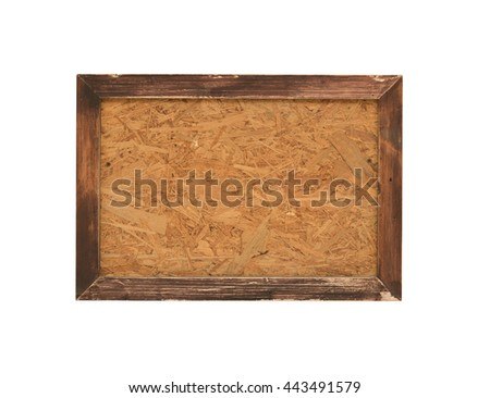 wood frame isolate on white background,with clipping path - stock photo