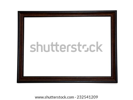 Wood frame isolated on the white