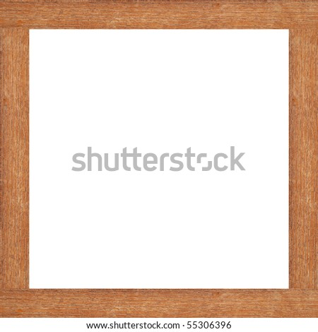 Wood frame isolated on white background - stock photo