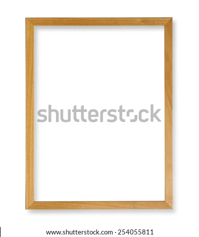 Wood frame isolated on white with clipping path - stock photo