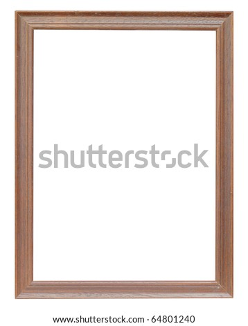 wood frame oak color - stock photo