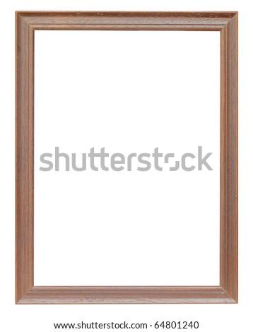 wood frame oak color - stock photo