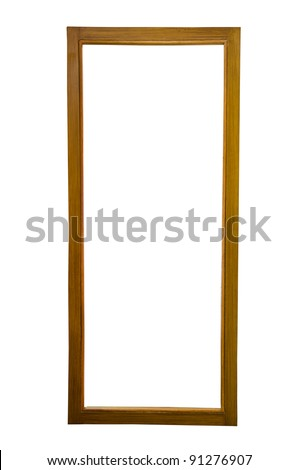 Wood frame on a white background. - stock photo