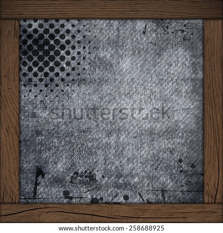 wood frame with dark grey  background