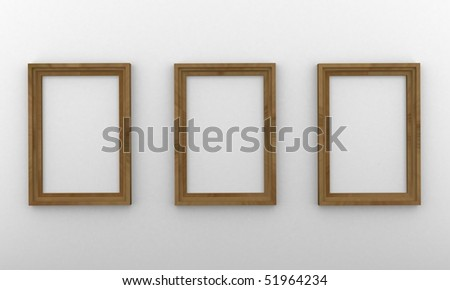 Wood frames hanging on the wall