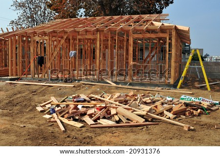 wood framing on a new residential construction project - Wood Framing