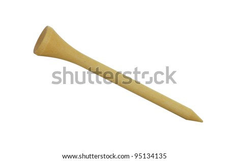 wood golf tee - stock photo