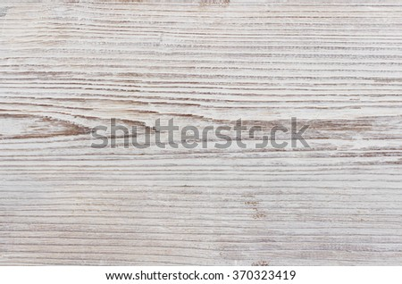 Wood Grain Texture, White Background of Grained Plank - stock photo