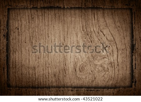 wood grungy background frame