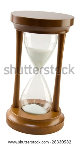 wood hourglass - stock photo