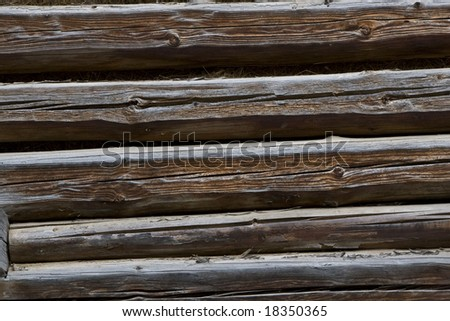 Wood house beam detail