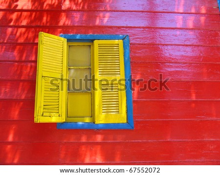 Wood house in La Boca, Buenos Aires - stock photo