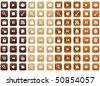 Wood Icons - stock photo