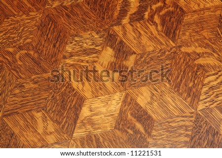 Wood inlay pattern on an antique table top, for use as a background - stock photo