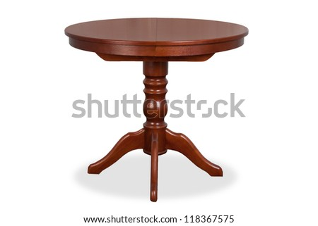 wood isolated table - stock photo
