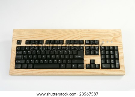 Wood Keyboard made in Finland