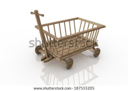 Wood Kids vehicle car - stock photo