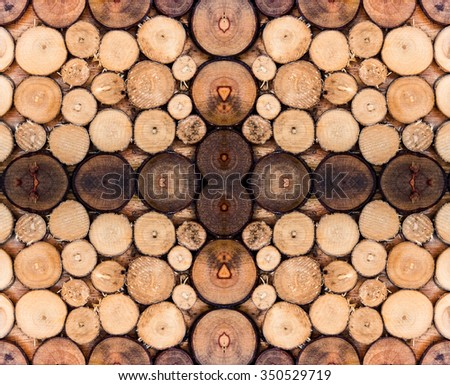 Wood log brown overlay pattern  - stock photo