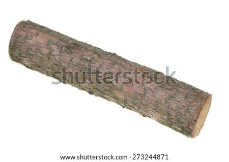 Wood log isolated on white background  - stock photo