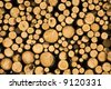 Wood log pile background - stock photo