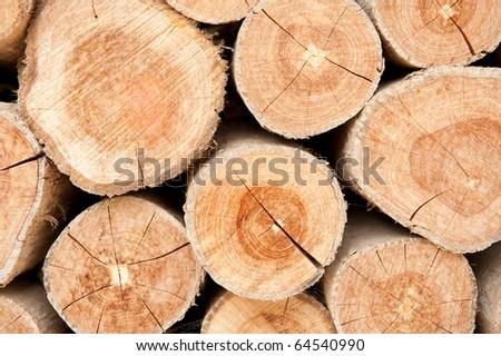 Wood lumber background - stock photo