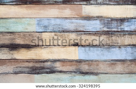 Wood material for Vintage wallpaper wood plank wall background abstract grunge wood texture  - stock photo