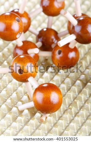 Wood molecular background  - stock photo