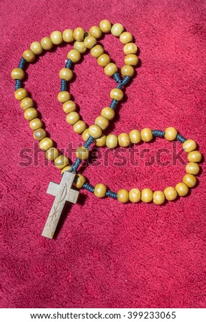 wood necklace with cross