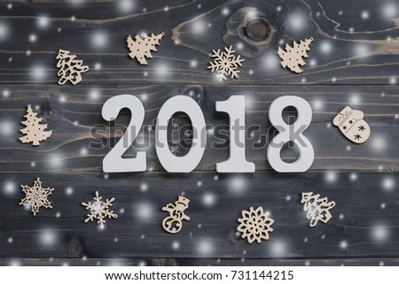 Happy New Year 2018 Greeting Card Stock Vector 625784723 ...