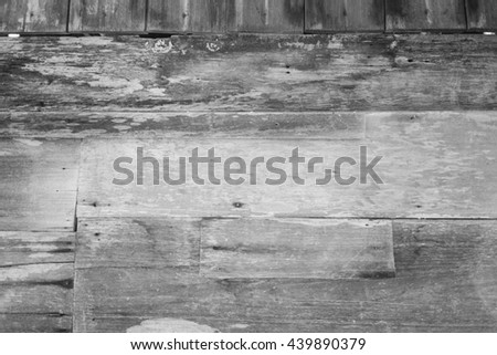 wood of wall , old