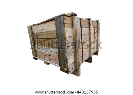 Wood Pallets - crates for transportation  - isolated - white background
