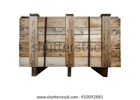 Wood Pallets - crates for transportation  -    isolated - white background   - stock photo