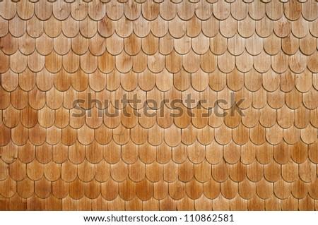 Wood panelling - stock photo