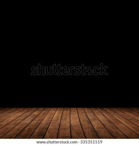 wood panels leading into the dark. - stock photo