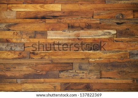 wood panels used as wall - stock photo