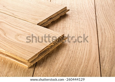 Wood parquet pieces , board for flooring - stock photo