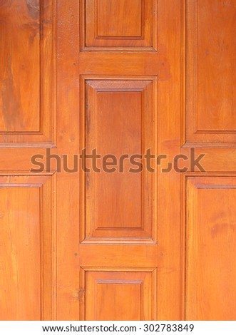 Wood pattern wall of thai style - stock photo