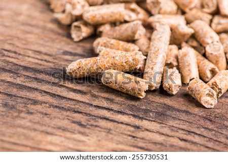 wood pellet - stock photo