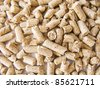 Wood pellets background close up - stock photo