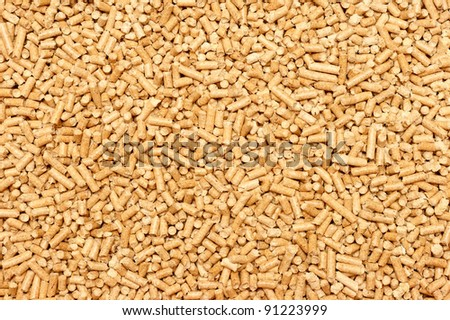 Wood Pellets cat toilet. Wood Pellets textured background - stock photo