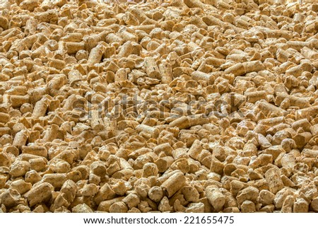 wood pellets useable perfectly as backround or picture - stock photo