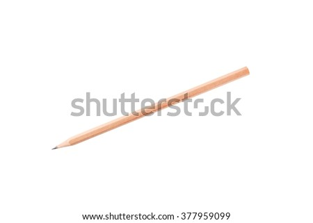 Wood pencil isolated on white background - stock photo