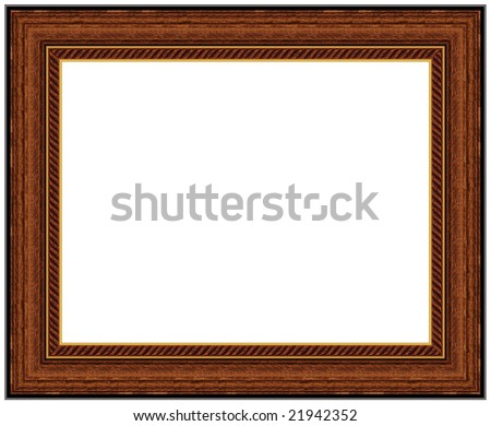 Wood picture frame with a decorative pattern