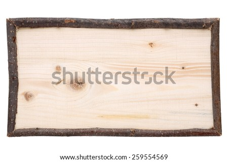 wood plank banner isolated on white background - stock photo