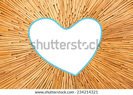 Wood plank picture frame  - stock photo