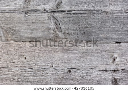 Wood planks from an old house - stock photo