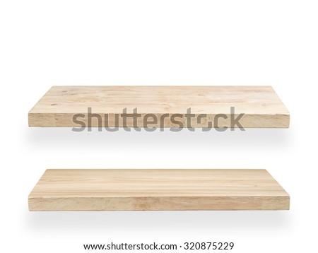 wood planks isolated on white - stock photo
