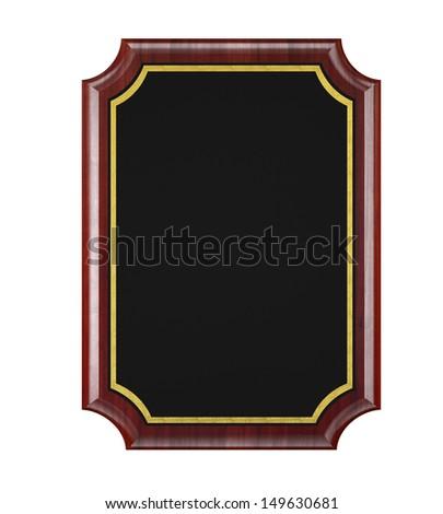 Wood Plaque - stock photo
